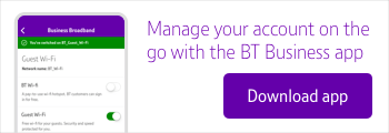 Manage your account on the go. Download the BT Business app.